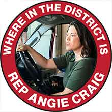 Where in the district is Angie Craig?