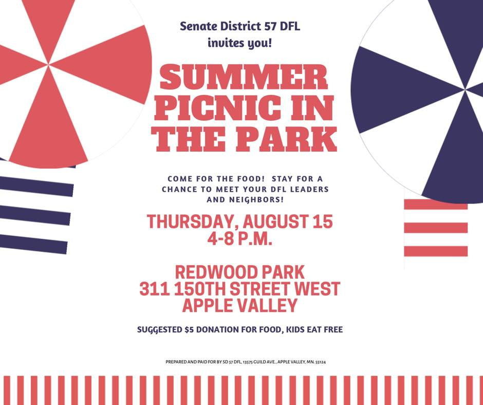 DFL SD57 Picnic In The Park @ Redwood Park   Apple Valley   Minnesota   United States