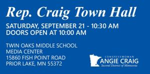 U.S. Rep Angie Craig Town Hall @ Twin Oaks Middle School | Prior Lake | Minnesota | United States