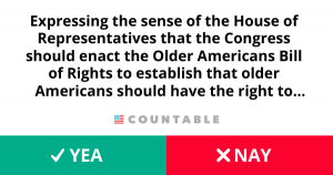 H. Res. 871, Expressing the sense of the House of Representatives that the Congress should enact the Older Americans Bill of Rights to establish that older Americans should have the right to live with dignity and with independence.
