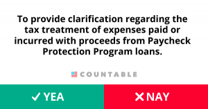 H. R. 6754, To provide clarification regarding the tax treatment of expenses paid or incurred with proceeds from Paycheck Protection Program loans.