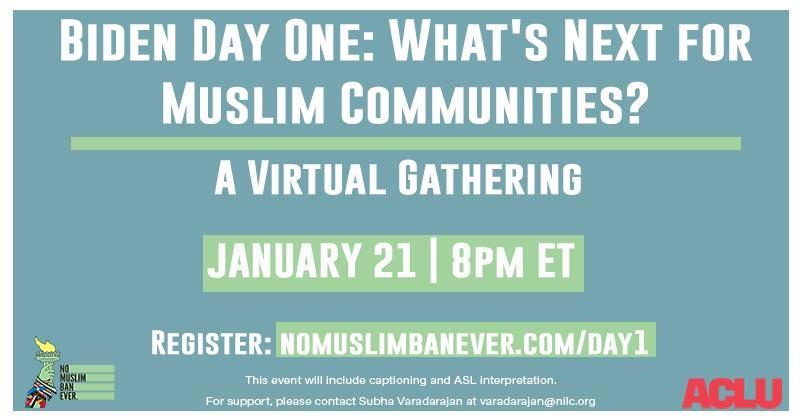 Biden Day One: What's Next For Muslim Communities?