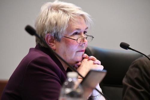 Lakeville School Board Member Kathy Lewis.