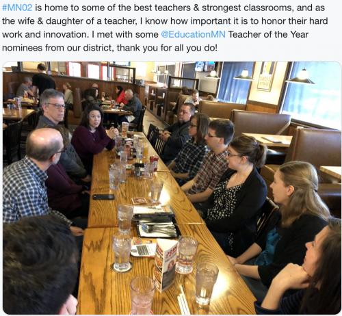 Meeting District Teachers