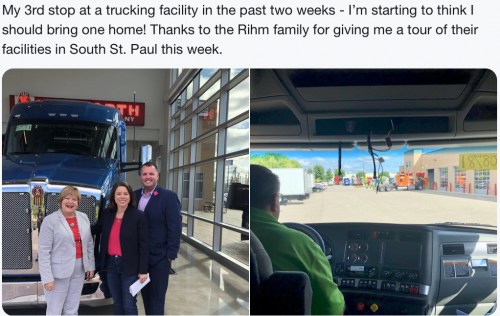 South St. Paul - Trucking Business Visit
