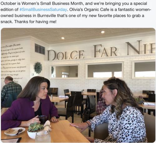 Burnsville - Small Business Saturday in Oct 2019