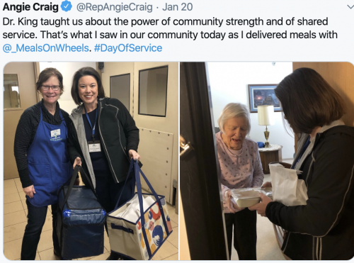 Helping at Meals On Wheels