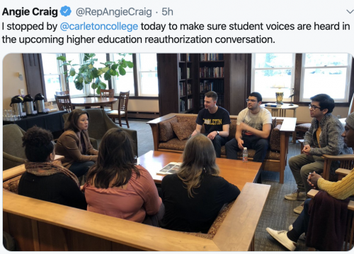 Student Discussion at Carleton College