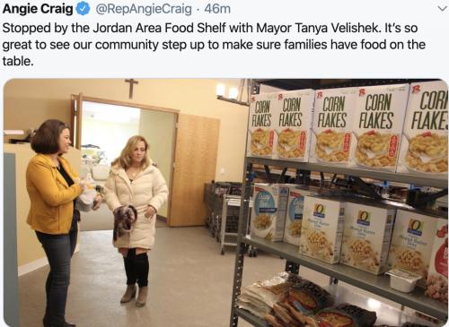 Jordan Area Food Shelf Visit