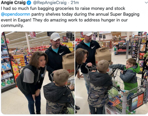 Eagan Cub: Bagging for Open Door Food Pantry