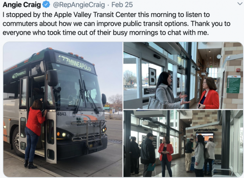 Listening to commuters - Apple Valley