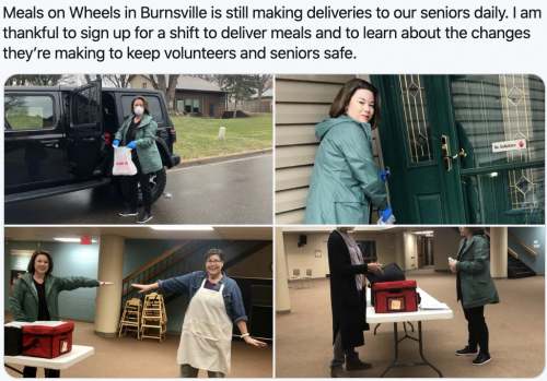 Burnsville - A shift at Meals on Wheels