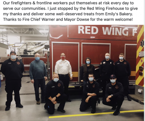 Meeting Firefighters in Red Wing