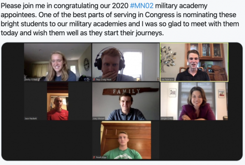 2020 #MN02 Military Academy Appointees
