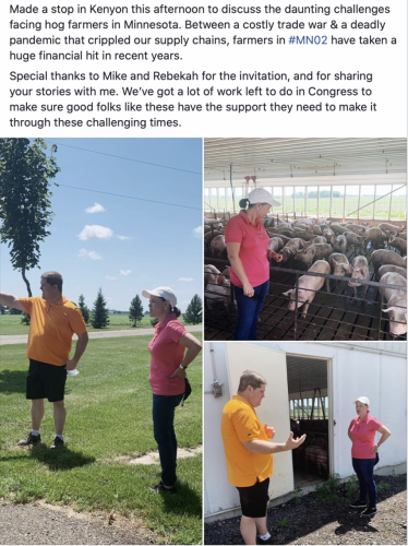 Kenyon - discussing the challenges facing hog farmers