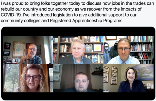 Virtual roundtable to discuss how jobs in the trades can rebuild our country