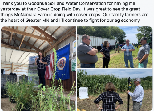 Goodhue Soil and Water Conservation at their Cover Crop Field Day