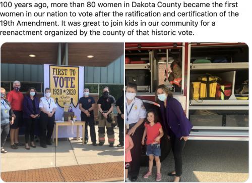 Dakota County - Community reenactment