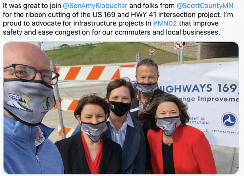 Ribbon cutting of the US 169 and HWY 41 intersection project