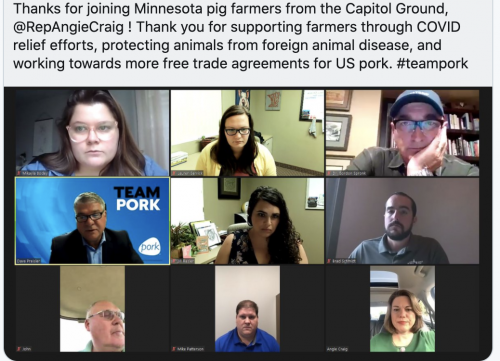 Working to see that MN farmers have the resources and support they need as we combat COVID-19